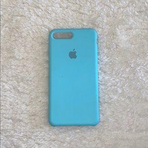 NWOT iPhone 7 Plus Light Blue Silicone Case